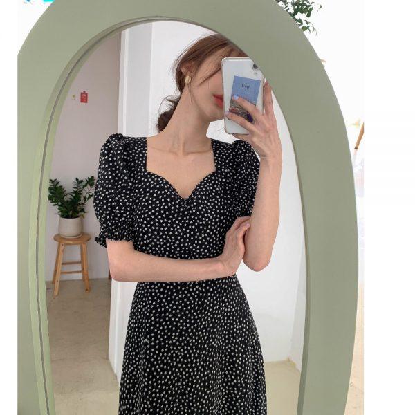 Chiffon Female Vintage Dress