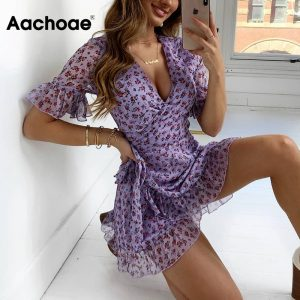 Beach Chiffon Mini Dress
