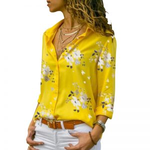 Print Blouses Casual Tops