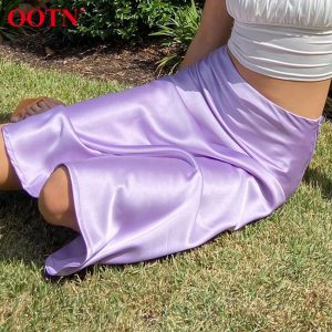 Casual Satin Summer Skirts
