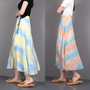 Women Fashion Pleated Skirt