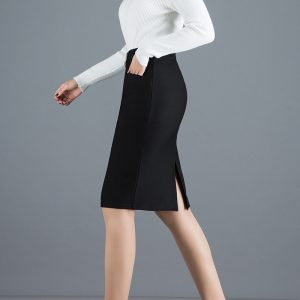 Elastic High Waist Skirt