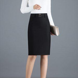 Elastic High Waist Skirt