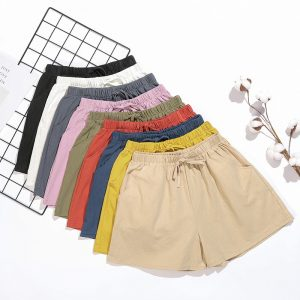 Summer Cotton Linen Shorts