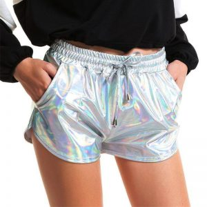 Shiny Metallic Hot Shorts