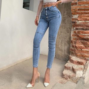 High Waist Stretch Hip Jeans