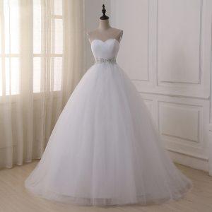 Appliques Corset Wedding Dresses