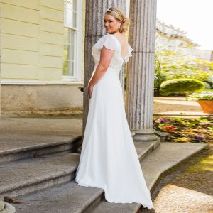 Chiffon Beach Bridal Gown
