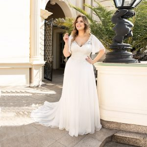 Lace Appliques Wedding Gown