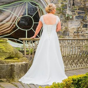 V Neck Bridal Gown