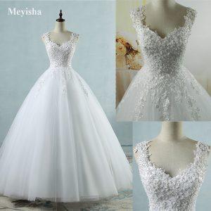 Ivory Tulle Wedding Dresses