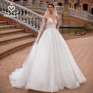 Glamorous Beaded Bridal Gown