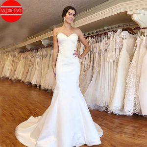 Satin Wedding Dresses Sweetheart