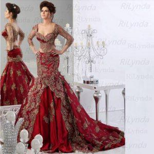 Red Muslim Evening Dresses