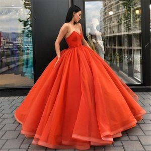 Tulle Ball Gown Evening Dress