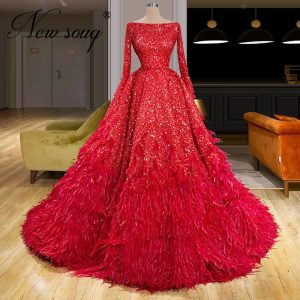 Feathers Formal Evening Dresses
