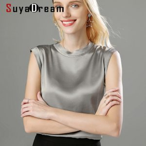 100% Silk Satin Tank Tops