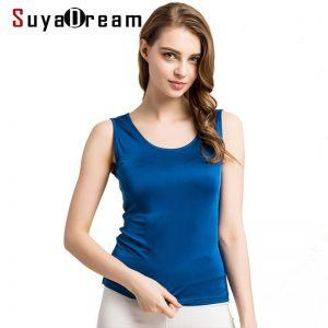 100% Real Silk Basic Vest
