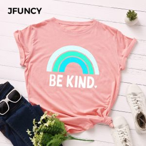 Rainbow Printed Women T-Shirt
