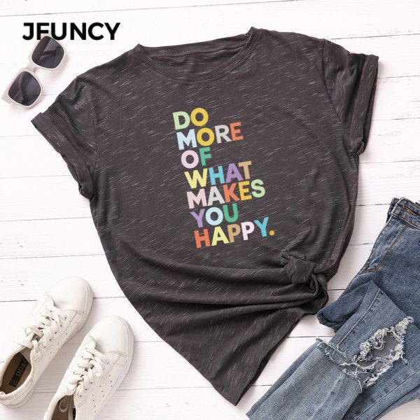 Summer T-shirts Letter Printed