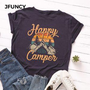 Happy Camper Printed Tshirt