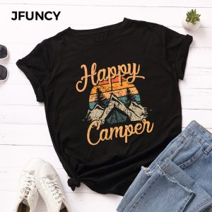 Happy Camper Printed Tshirt