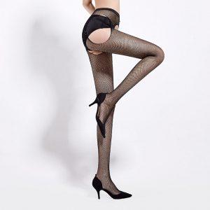 Diamond Mesh Nylon Pantyhose