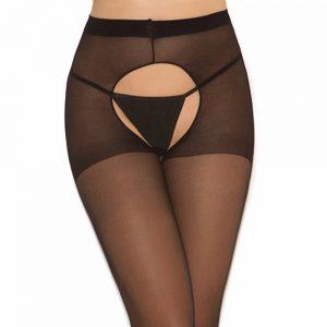Crotch Tights Elastic Pantyhose