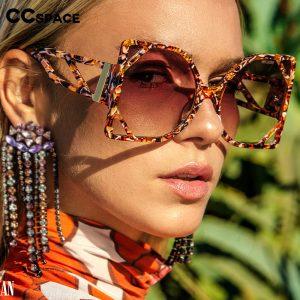 Square Luxury Sunglasses Hollow