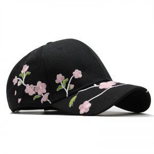Flowers Embroidery Baseball Cap