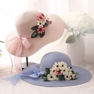 Flowers Weave Straw Hat