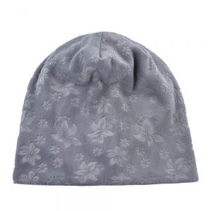Embossing Flower Warm Hat