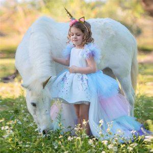Summer Girls Unicorn Dress