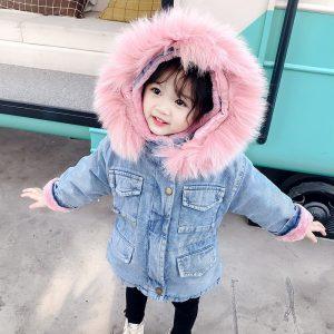 Girls Fur Collar Jackets