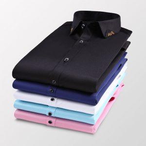 Fashion Embroidery Stretch Shirt