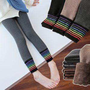Girls Rainbow Skinny Pants