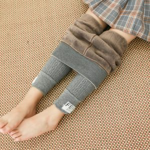 Plaid Design Denim Trousers