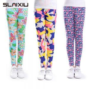 Girls Leggings Skinny Printing