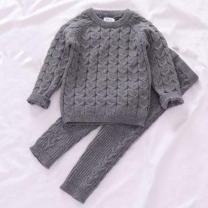 Patterned Woolen Sweater for Infant