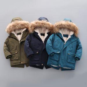Hooded Zipper Fur Jacket