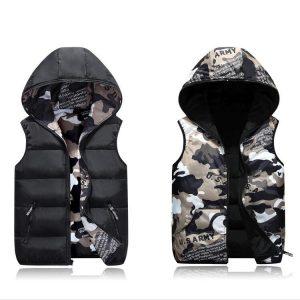 Hoodie Camouflage Fur Jacket
