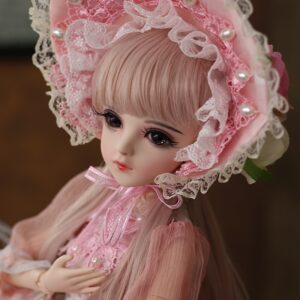 Barbie Toy Hairstyle Eyelashes for Bride