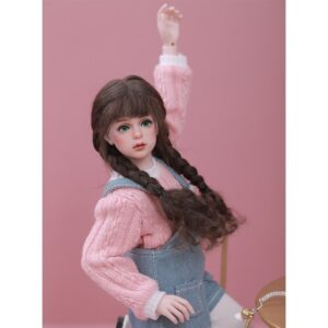 Toy Knitted Wool Hairstyle Wig