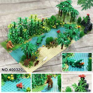 Line Flower Land Plant Toy Block