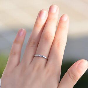 Small Round Zircon Stone Ring
