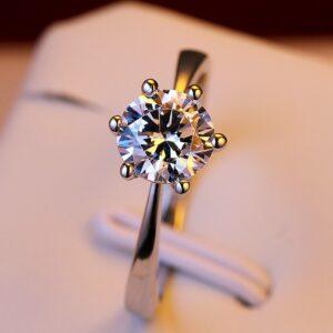 Romantic Solitaire Engagement Ring