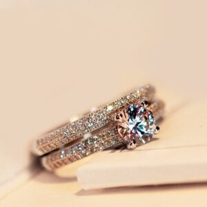 Luxury Sterling Engagement Ring