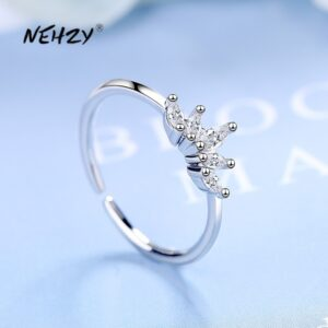 Crystal Crown Open Ring