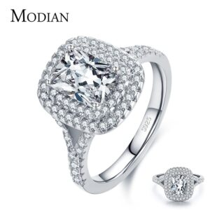 Luxury Female Rectangle CZ Ring