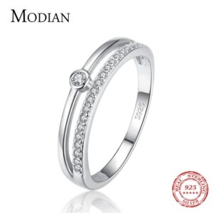 925 Sterling Silver CZ Rings